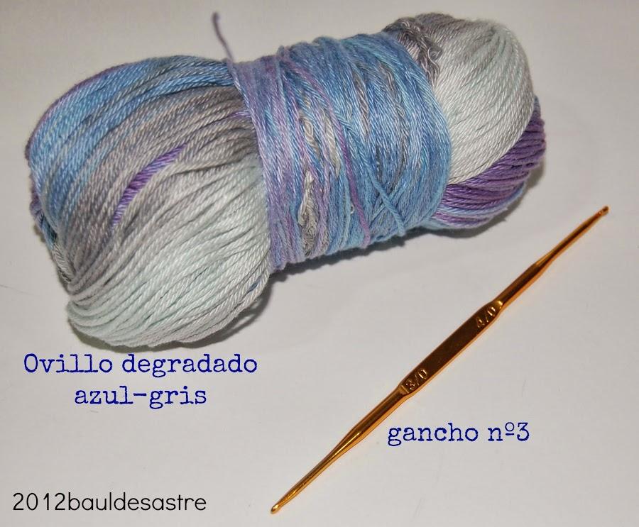 lana Katia degradada y ganchillo