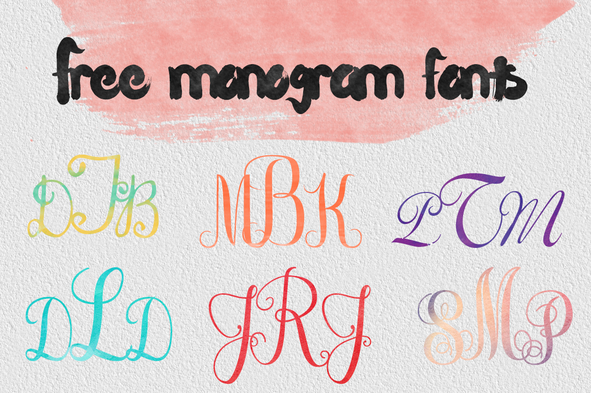 DLOLLEYS HELP: Free Monogram Fonts