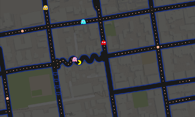 Google Maps Pacman images