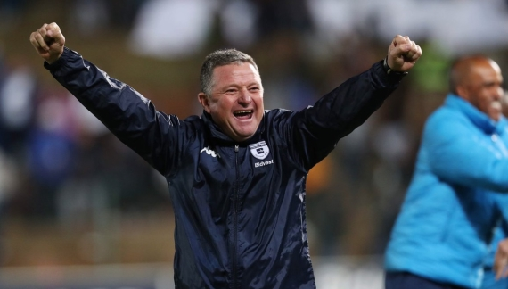 Gavin Hunt struggled to contain his emotions after leading Bidvest Wits to their first ever Premiership title