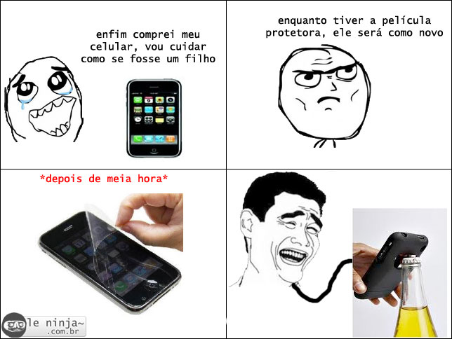 peliculaprotetora [Humor] Cuidados com o celular novo