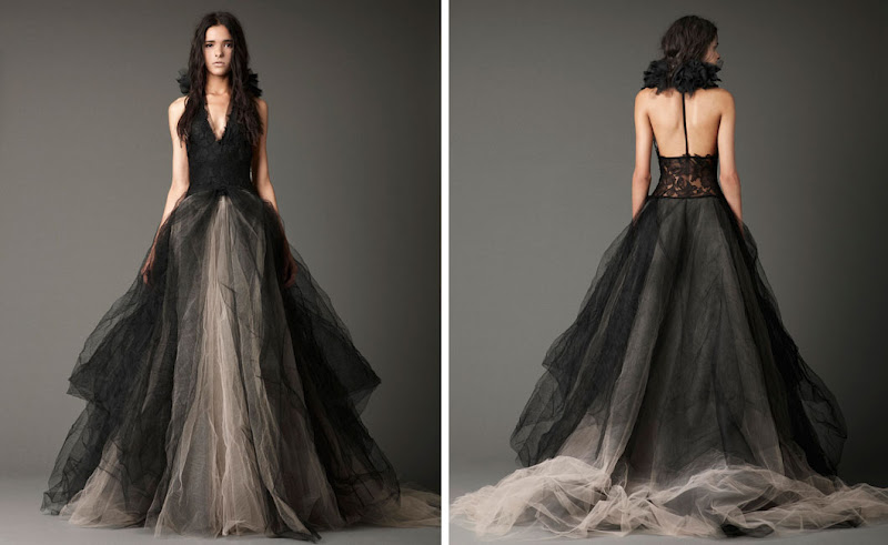 A Few Of My Favorite Things: Vera Wang Black Wedding Dresses