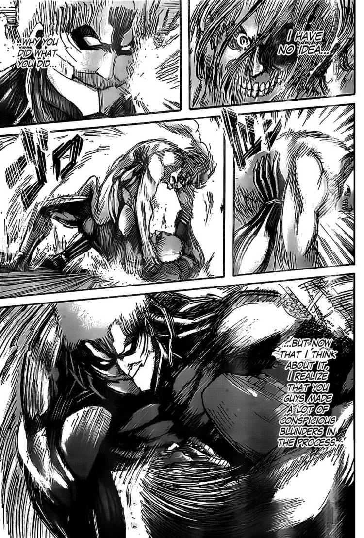 Shingeki no Kyojin Ch 44: Punch, throw, lock
