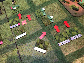 The Germans attack with tanks and infantry