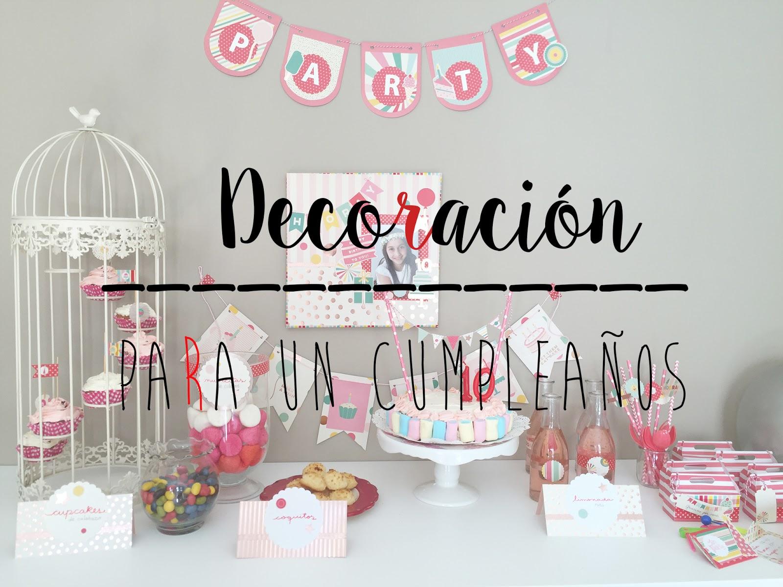 Idea de decoración para cumpleaños infantil