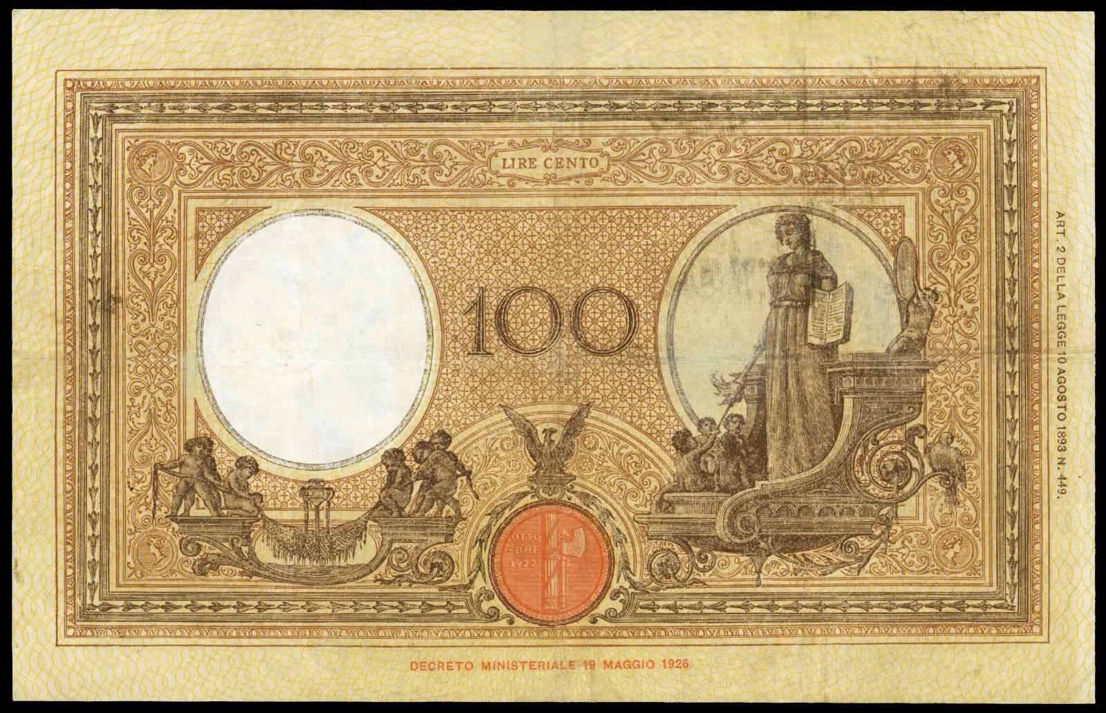 100 Italian Lira banknote