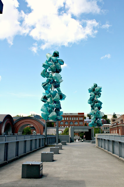 Chihuly Bridge of Glass in Tacoma, WA created by Dale Chihuly in collaboration with Museum of Glass.