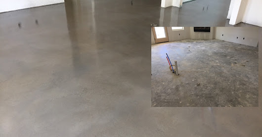 Gray concrete staining of entire house - Valley View, Texas