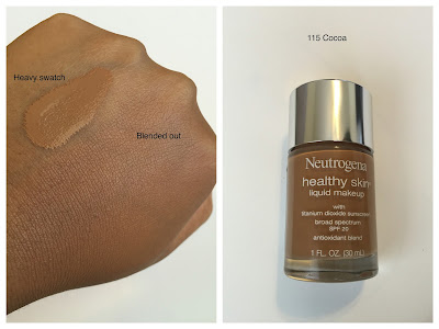 Neutrogena Healthy Skin Foundation 115 Cocoa Swatch