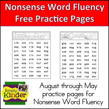 http://www.teacherspayteachers.com/Product/Nonsense-Word-Fluency-Freebie-NSF-DIBELS-Practice-Pages-196733