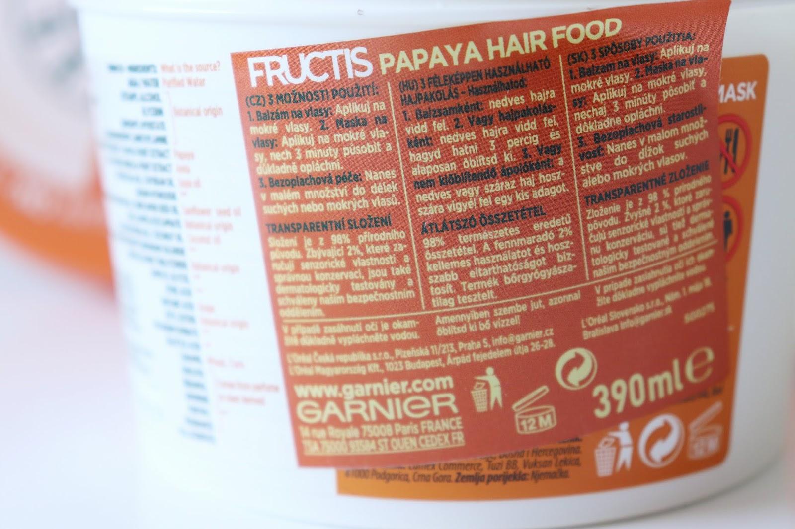Ja som Garnier Fructis Papaya Hair food používala hlavne ako masku a ako  bezoplachovú starostlivosť. Použitie ako maska je jednoduché. e0fd0152088