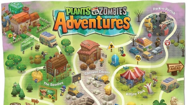 Plants vs. Zombies adventures online game on facebook: overview.