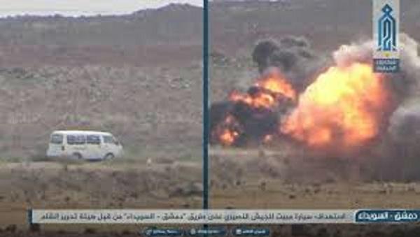 ما هي العلاقة بين استهداف الفان على طريق السويداء و ضرب مقر للاستخبارات الإسرائيلية ؟