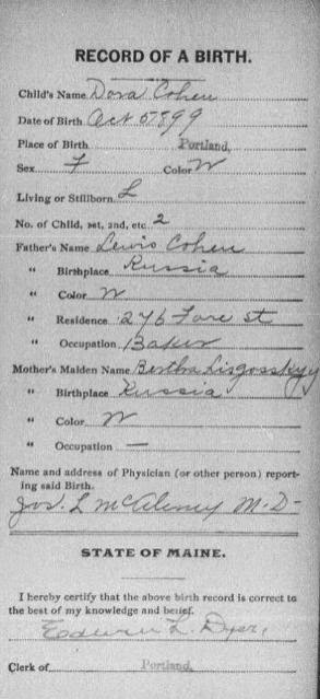 Birth, Death, & Marriage Certificates