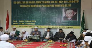 Sangat Jelas! Putusan Muktamar Lirboyo : Warga NU Wajib Pilih Pemimpin Muslim