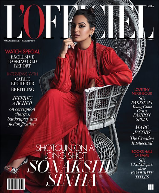 Actress, Rapper, @ Sonakshi Sinha Awesome Pose From L'Officiel India Magazine