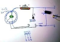 circuit diagram of run 12v led on 1.5v cell