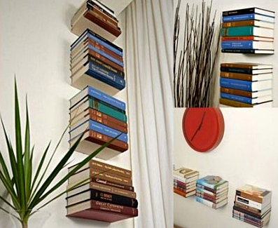 Kumpulan Gambar Rak Buku Dinding Minimalis Kreatif Dan Modern - Rak Buku Minimalis Sederhana Model Gantung Melayang