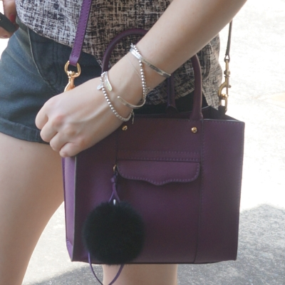 Rebecca Minkoff mini MAB tote in plum | Away From The Blue