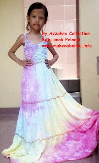 Azzahra Collectioon Dress Anak Pelangi