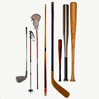 Various sporting goods.