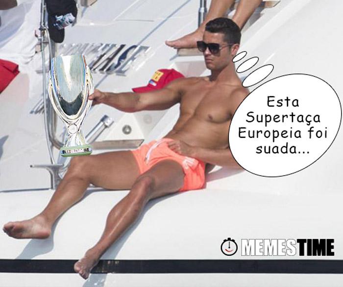 Memes Time Cristiano Ronaldo – Esta Supertaça Europeia foi suada