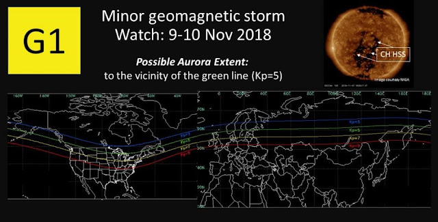 minor geomagnetic storm may hit earth this weekend