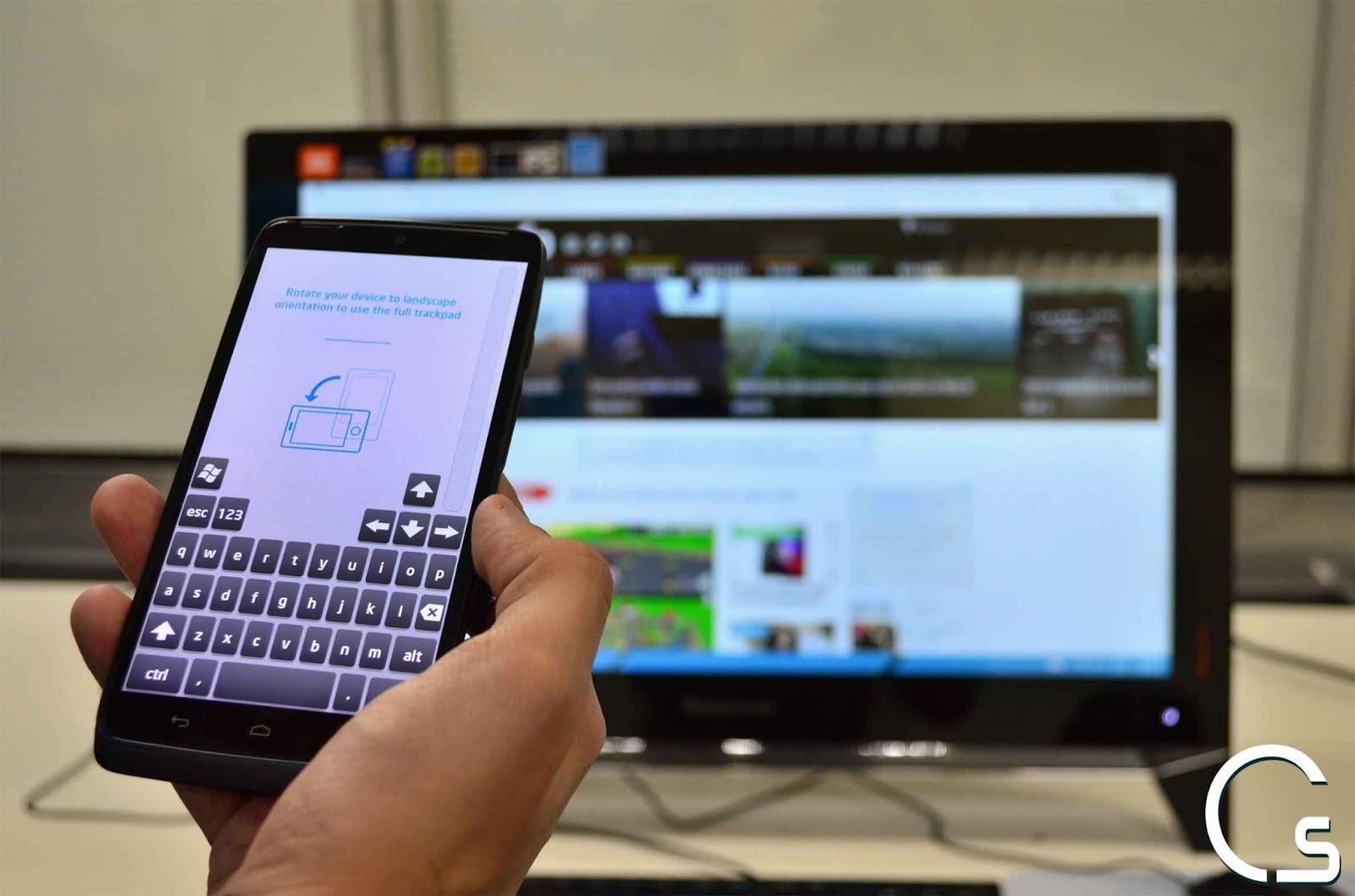 طريقة التحكم بالكمبيوتر الخاص بك باستخدام هاتفك الاندرويد