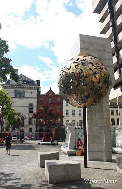Banco de Irlanda, al fondo Dame Street