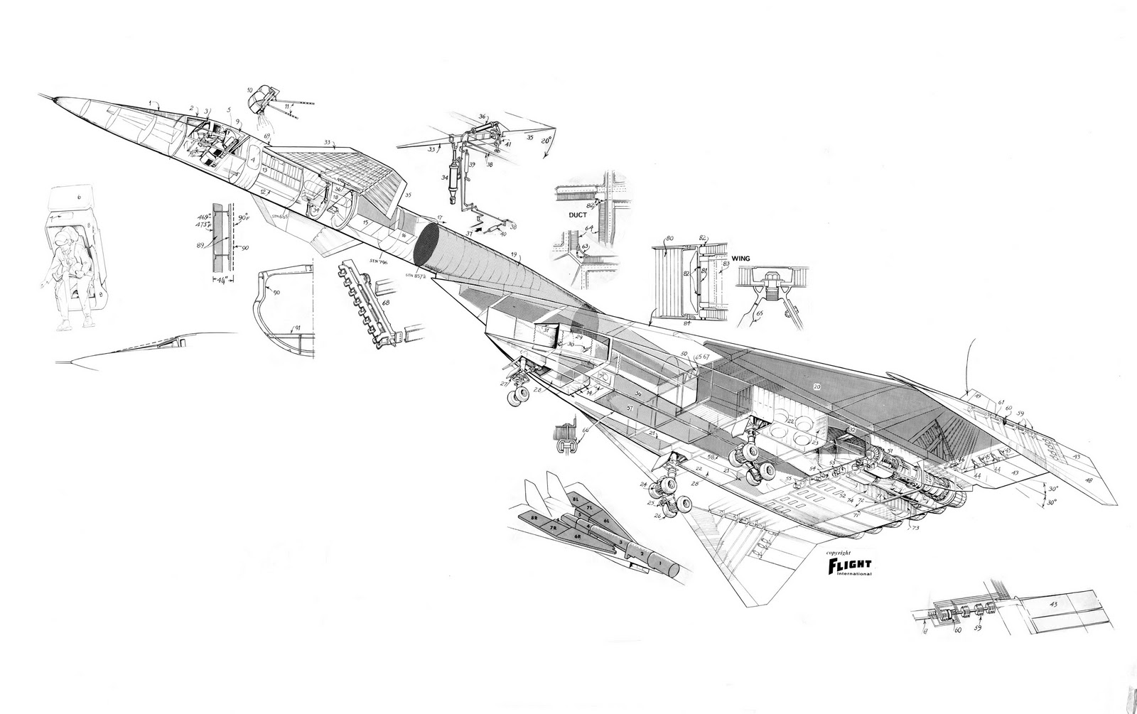 Atomic Annihilation Cutaway B 70er