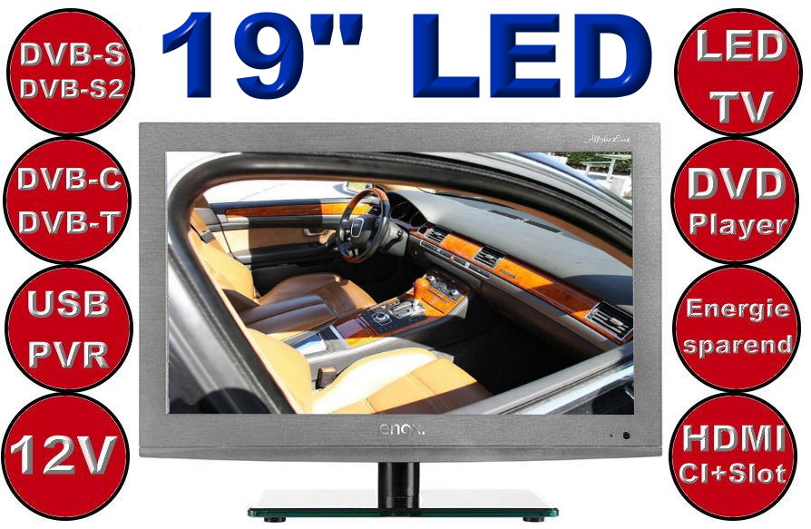 enox ail 1519s2dvd 12v 12volt led tv. Black Bedroom Furniture Sets. Home Design Ideas