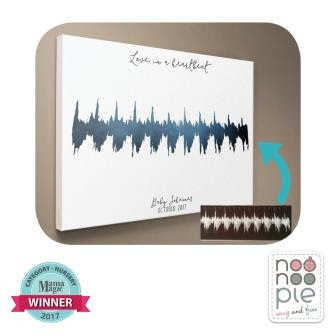 Noonoo Pie Heartbeat Canvas