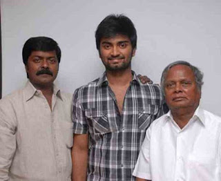 Atharvaa with grand father S. Siddalingaiah
