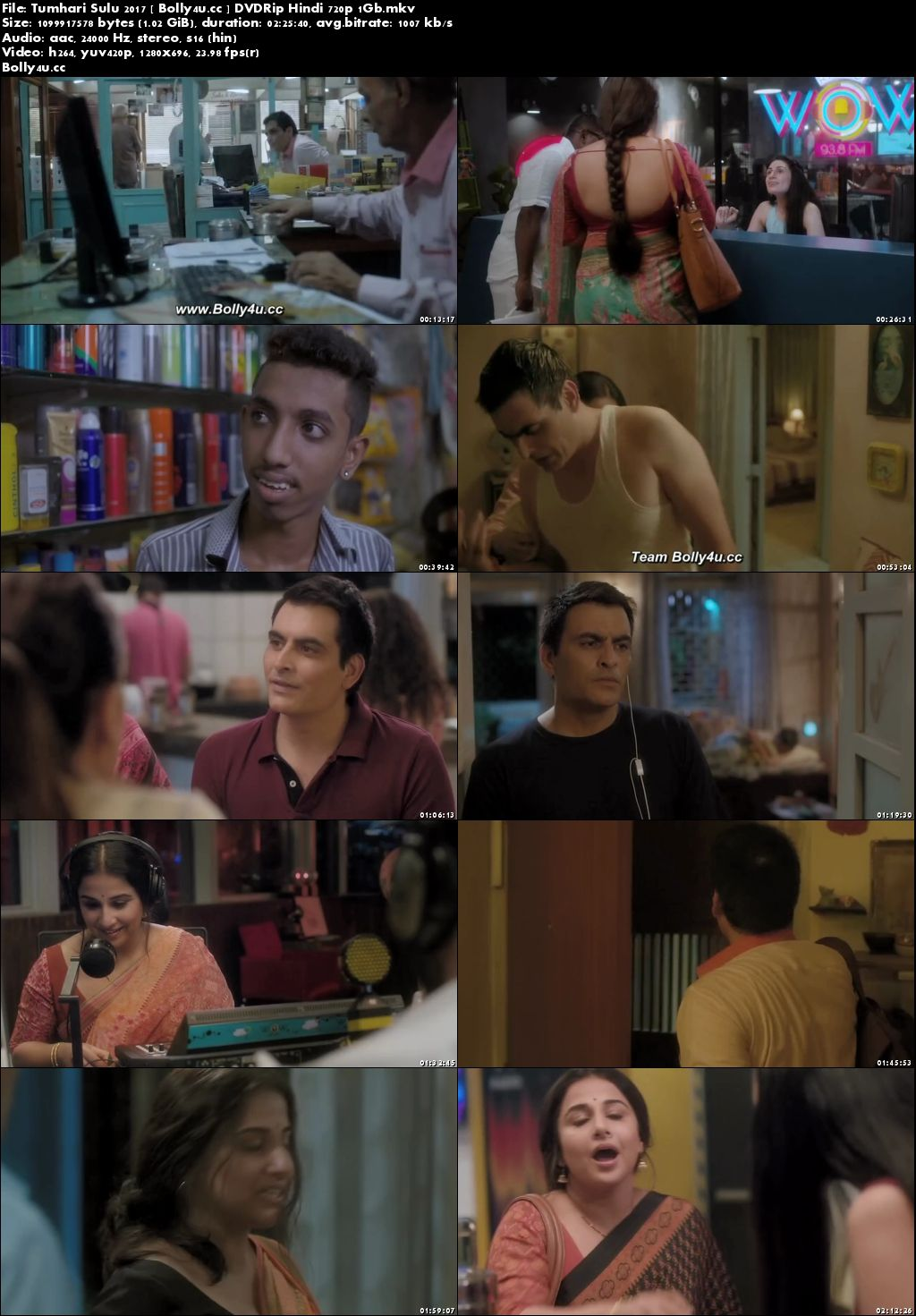Tumhari Sulu 2017 DVDRip 1Gb Full Hindi Movie Download 720p