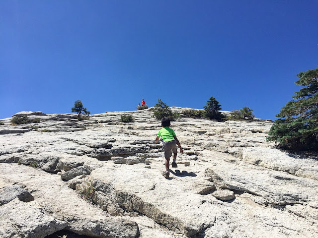 Hiking up Sentinel Dome