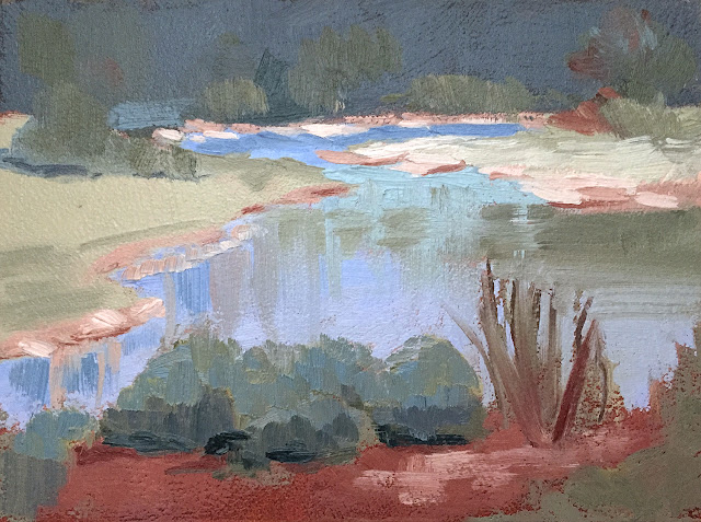 Cool and Crisp landscape oil painting study Apr 23 2019