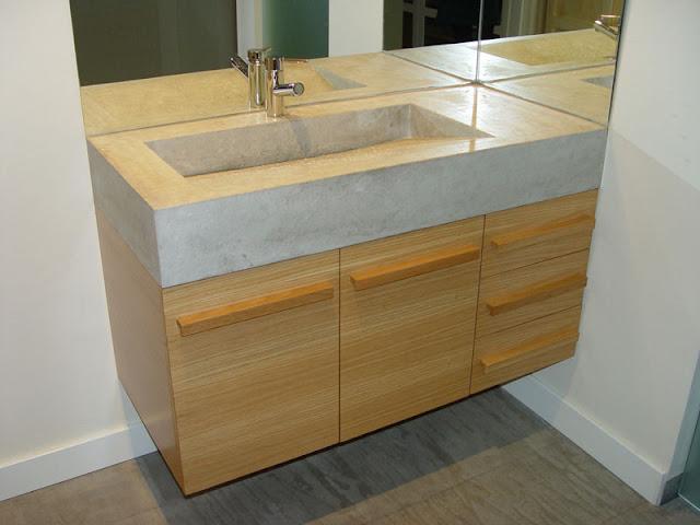 Madera en cocinas y ba os espacios en madera - Banos con encimera ...