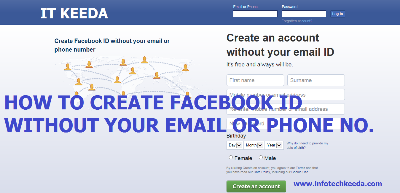 How to make an email account no phone number - How To Create Facebook Id Without Your Email Or Phone Number