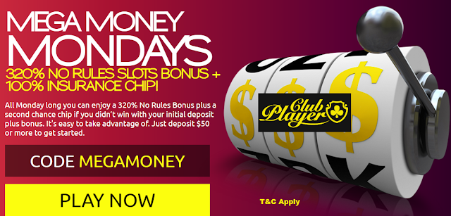 Mega Money Mondays at Club player Casino