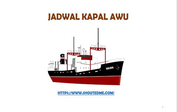 Jadwal keberangkatan kapal awu 2019