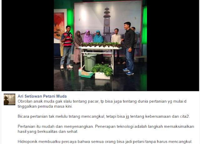 Moment Saat Tim Petani Muda Lampung Live Obrolan di TVRI Lampung