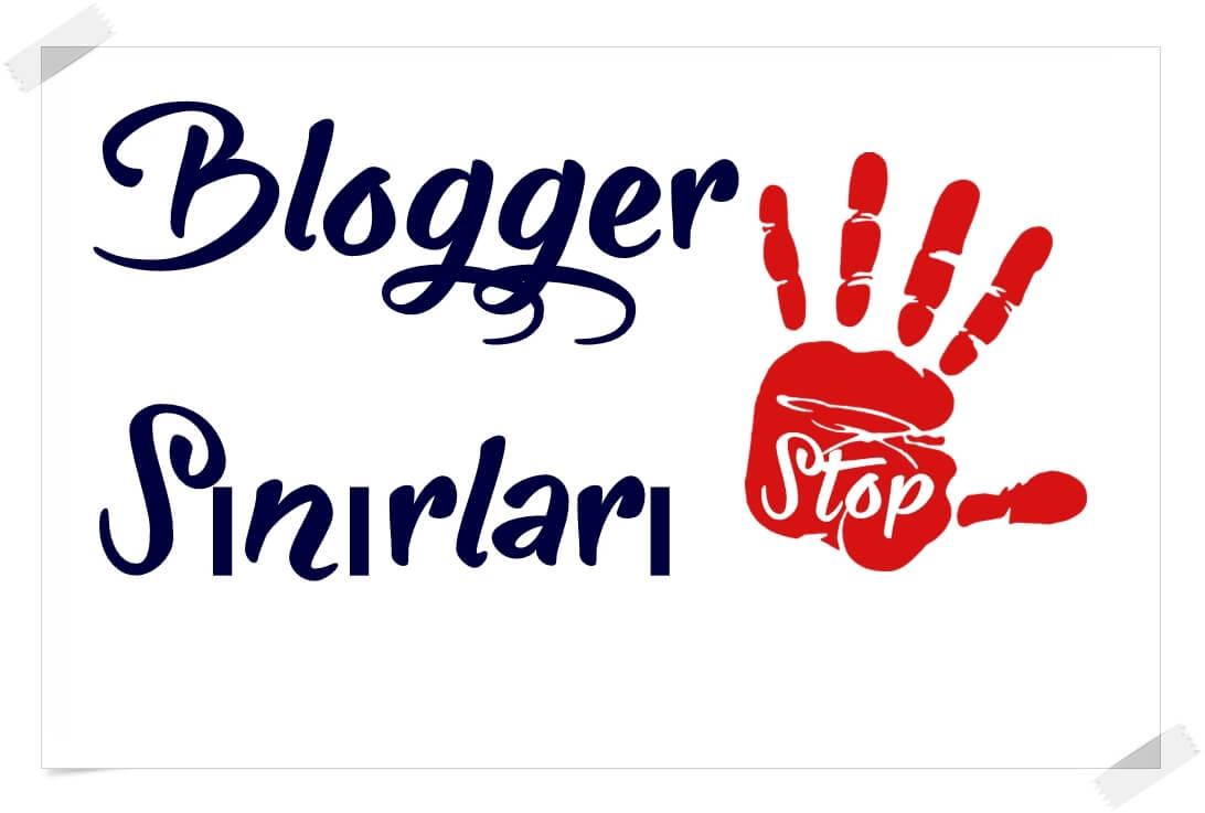 blogger sınırları