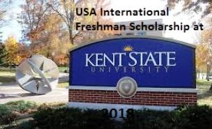 International Freshman Scholarship at Kent State University in USA, 2018