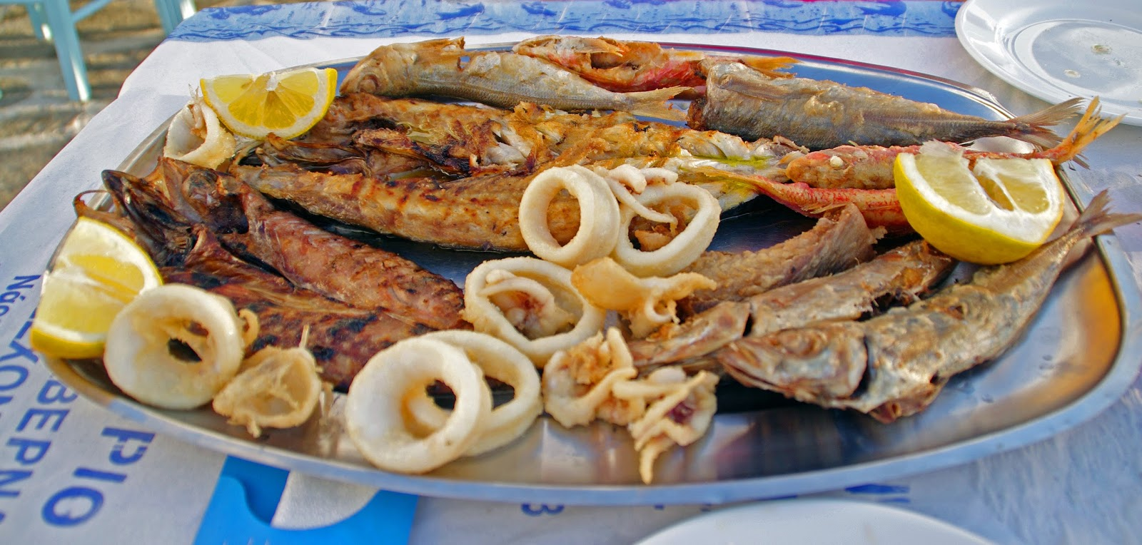 Seafood platter Greek Islands