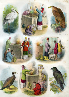 Birds, offerings and other images from Brown's Self-Interpreting Family Bible