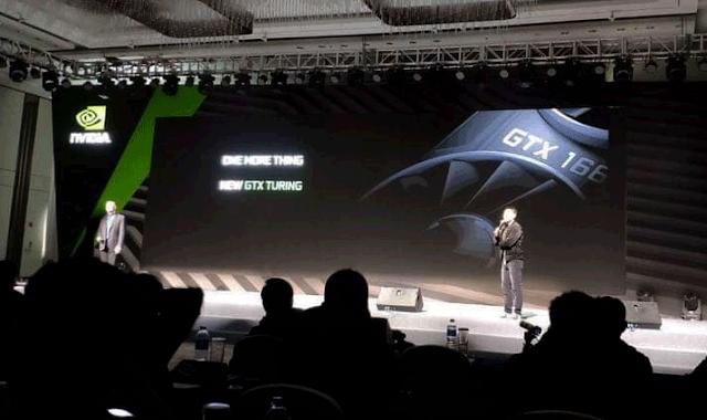 GTX 1660 atau GTX 1660 Ti Terlihat dalam sebuah presentasi
