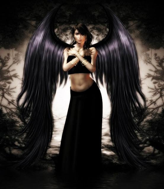 chicas con alas negras