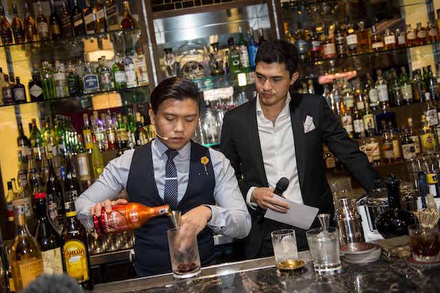 Lead Bartender, Mr Osmund Bernard giving us a masterclass session