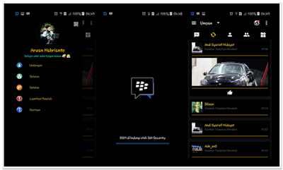 BBM MOD Golden Black Theme New v3.0.1.25 Full Features