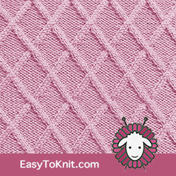 #CableKnitting Lattice stitch. FREE Knitting Pattern.  #easytoknit #knitting